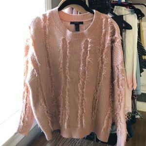 Peach shaggy sweater